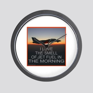 SMELL OF JET FUEL Wall Clock