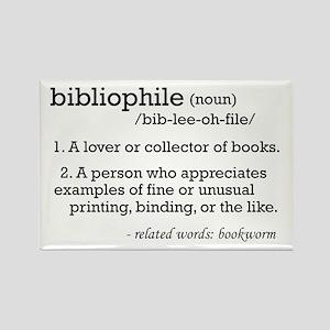 Bibliophile Definition Rectangle Magnet