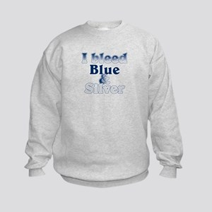 I Bleed Blue and Silver Kids Sweatshirt