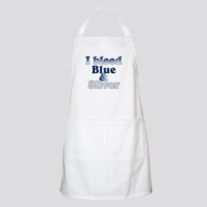 I Bleed Blue and Silver Apron