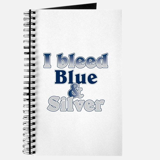 I Bleed Blue and Silver Journal