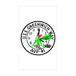 USS Greenwich Bay (AVP 41) Rectangle Sticker 50 p