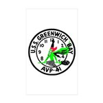 USS Greenwich Bay (AVP 41) Rectangle Sticker 10 p