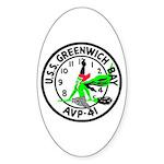 USS Greenwich Bay (AVP 41) Oval Sticker (50 pk)