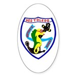 USS Toledo (CA 133) Oval Sticker (50 pk)
