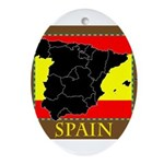 Spanish Map Oval Ornament