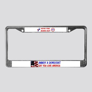 THROW THE BUMS OUT! ~ License Plate Frame