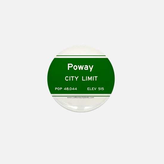 Poway Mini Button