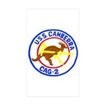 USS Canberra (CAG 2) Rectangle Sticker 10 pk)