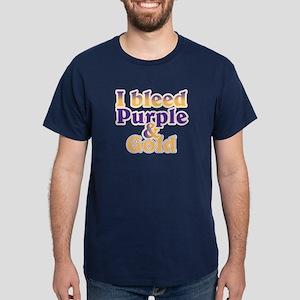 Bleed Purple and Gold Dark T-Shirt
