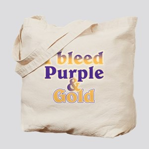 Bleed Purple and Gold Tote Bag