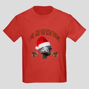 CHRISTMAS OSTRITCH Kids Dark T-Shirt