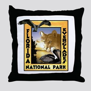 Florida Everglades NP Throw Pillow