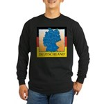 Deutschland German Map Long Sleeve Dark T-Shirt