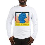 Deutschland German Map Long Sleeve T-Shirt