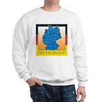 Deutschland German Map Sweatshirt