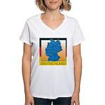 Deutschland German Map Women's V-Neck T-Shirt