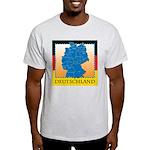 Deutschland German Map Light T-Shirt