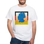 Deutschland German Map White T-Shirt