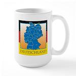 Deutschland German Map Large Mug