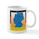 Deutschland German Map Mug