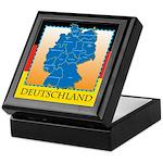 Deutschland German Map Keepsake Box