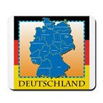 Deutschland German Map Mousepad