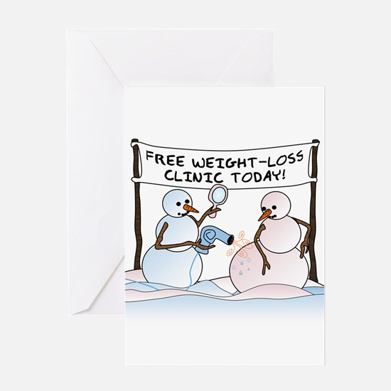 Melting the Pounds Greeting Card