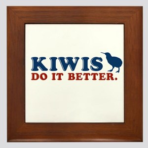 Kiwis Do it Better Framed Tile