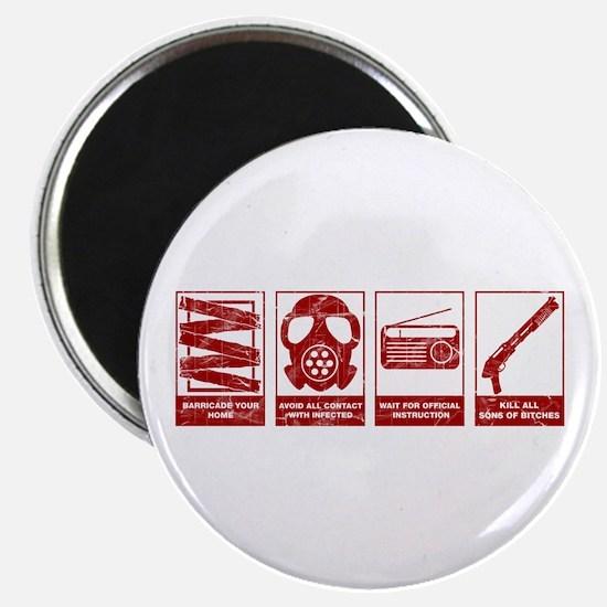 In Case Of Zombie Apocalypse Magnet