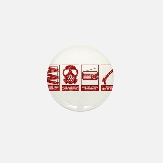 In Case Of Zombie Apocalypse Mini Button