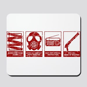 In Case Of Zombie Apocalypse Mousepad