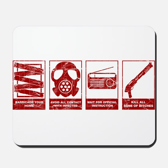 In Case Of Zombie Apocalypse Mousepad