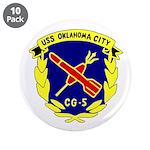 "USS Oklahoma City (CG 5) 3.5"" Button (10 pack)"