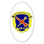 USS Oklahoma City (CG 5) Oval Sticker (50 pk)