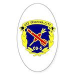 USS Oklahoma City (CG 5) Oval Sticker (10 pk)