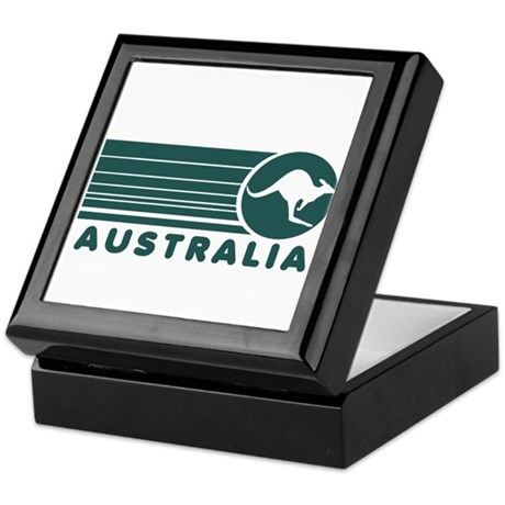 Australia Vintage Stripes Keepsake Box