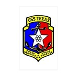 USS Texas (CGN 39) Rectangle Sticker 50 pk)