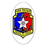 USS Texas (CGN 39) Oval Sticker (10 pk)