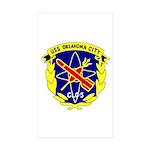 USS Oklahoma City (CLG 5) Rectangle Sticker 10 pk