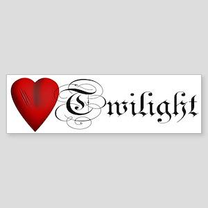 Twilight Scratched Heart Bumper Sticker