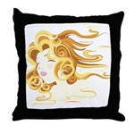 Anime Air Art on a Throw Pillow