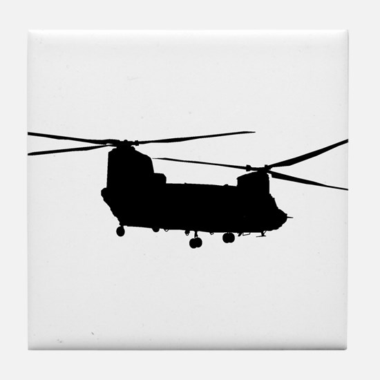 Cool Military helicopter Tile Coaster