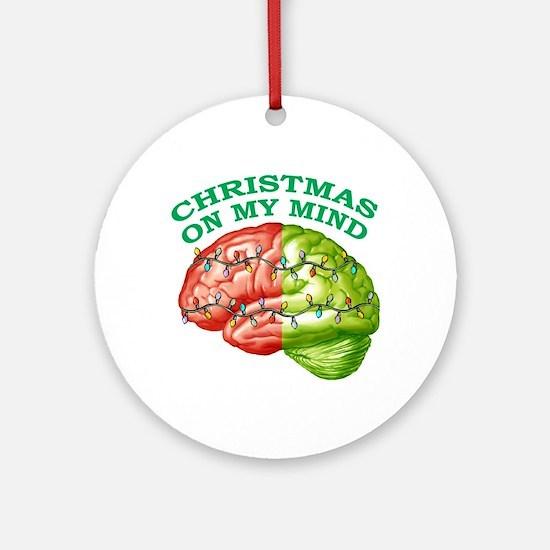Christmas/Mind Ornament (Round)
