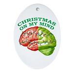 Christmas/Mind Oval Ornament