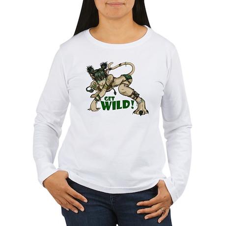 Anime Catgirl Art Women's Long Sleeve T-Shirt