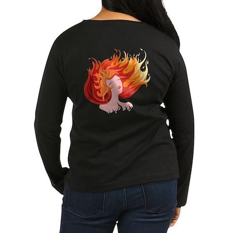 Elemental Fire Women's Long Sleeve Dark T-Shirt