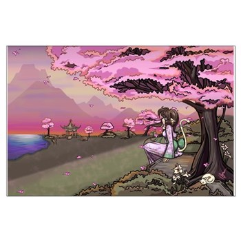 Anime Catgirl Art Large Poster
