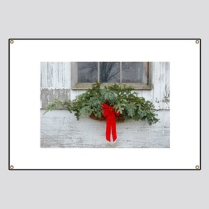 Christmas Barn Window Banner