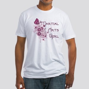Martial Arts Girl Fitted T-Shirt